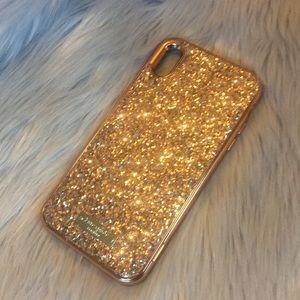 Rose Gold Glitter Kate Spade ♠️ iPhone XS Max Case